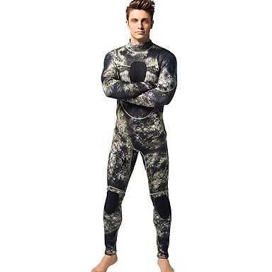 MYLEDI בגדי ריקוד גברים עבה 3mm חליפה רטובה מלאה עמיד למים שמור על חום הגוף לביש רוכסן YKK ניאופרן חליפת צלילה חליפות צלילה - שחייה צלילה