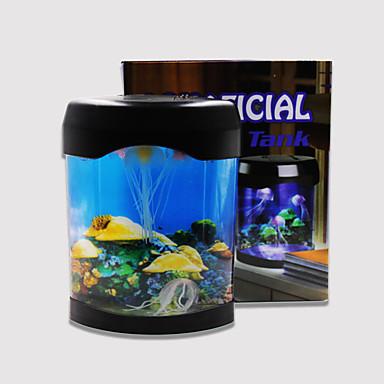 Baojie aquarium medusa lâmpada néon lights usb mini aquarium