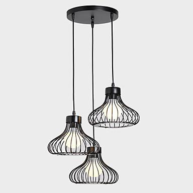 3-luz Luzes Pingente Luz Ambiente - Designers, 110-120V / 220-240V Lâmpada Não Incluída / 15-20㎡ / E26 / E27