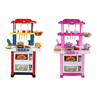 hesapli Oyuncaklar ve Oyunlar-beiens Kids 'Pişirici Cihazlar LED Aydınlatma Dźwięk ABS Çocuklar için Genç Kız Oyuncaklar Hediye 30 pcs