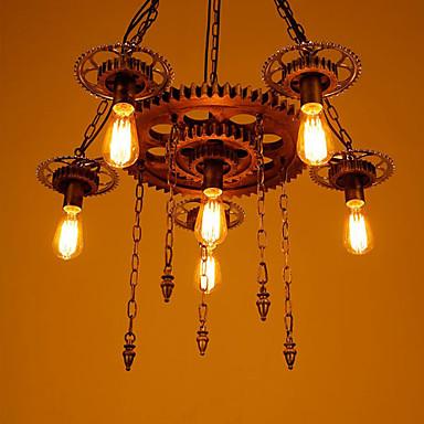 6-الضوء صناعي أضواء معلقة ضوء محيط طلاء ملون معدن الراتنج استايل مصغر 110-120V / 220-240V لا يشمل لمبات / E26 / E27