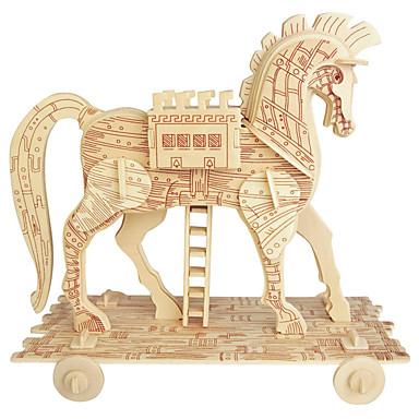 voordelige 3D-puzzels-Houten puzzels Paard professioneel niveau Puinen 1 pcs Jongens Geschenk
