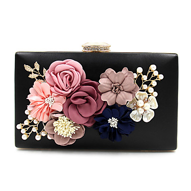 932e1ffe01d Women's Imitation Pearl / Crystal / Rhinestone / Flower Evening Bag  Rhinestone Crystal Evening Bags Polyester Floral Print Light Gold / Wine /  Blue