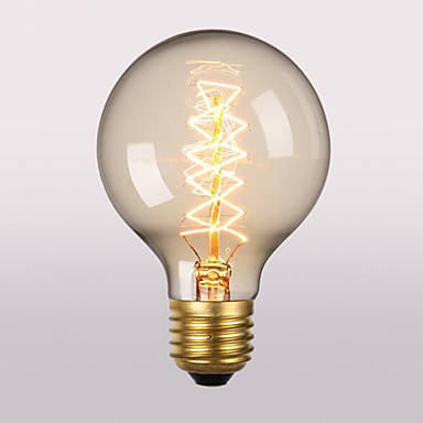 1pç 60 W E26 / E27 G95 Branco Quente 2300 k Retro / Decorativa Incandescente Vintage Edison Light Bulb 220-240 V