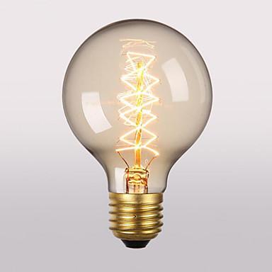 1PC 60 W E26 / E27 G95 أبيض دافئ 2300 k مكتب  /  الأعمال / ديكور المتوهجة خمر اديسون ضوء لمبة 220-240 V