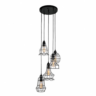 QINGMING® 5-luz Luzes Pingente Luz Descendente - Designers, 110-120V / 220-240V Lâmpada Incluída / 10-15㎡ / E12 / E14 / E26 / E27