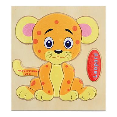 Cartões Educativos Quebra-Cabeça Quebra-Cabeças de Madeira Jogos de Madeira Brinquedo Educativo Tiger Animais Desenho Dom