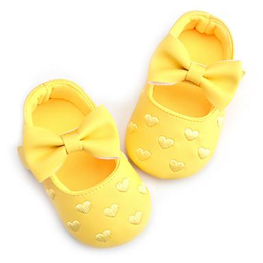 baratos Sapatos de Criança-Para Meninas Courino Rasos Crianças / Crianças (0-9m) Primeiros Passos Laço / Colchete Verde / Azul / Rosa claro Primavera / Outono / Casamento / Festas & Noite / Casamento