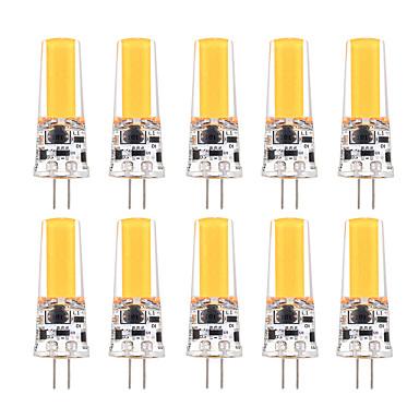 YWXLIGHT® 10pcs 3W 200-300lm G4 أضواء LED Bi Pin T 1 الخرز LED COB تخفيت ديكور أبيض دافئ أبيض كول 12V 12-24V