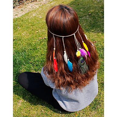 Pena Headbands / Pentes de cabelo / Flores com 1 Casamento / Ocasião Especial / Casual Capacete / Laço de cabelo / Pino de cabelo