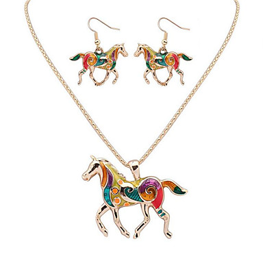 للمرأة مجموعة مجوهرات - حيوان ترف, تصميم فريد, موديل الزينة المعلقة تتضمن ذهبي / فضي من أجل تخرج شكرا لك عمل