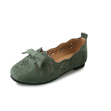 Paseo Bailarinas redondo Zapatos Plano Rosa Verano Mujer Dedo Ejército Mary Verde Tacón Pajarita Vellón Jane 05674175 Caqui XvUqXYBw