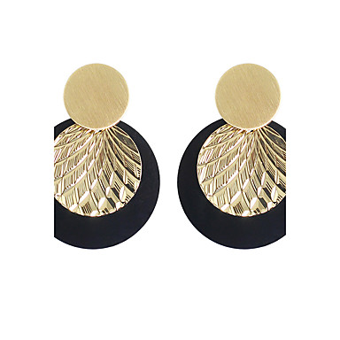 Mulheres Brincos Compridos - Básico Dourado Para Casual