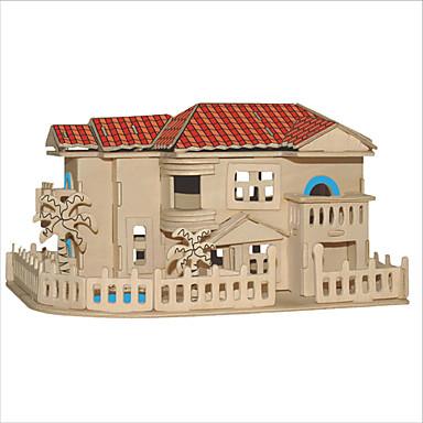 voordelige 3D-puzzels-3D-puzzels Legpuzzel Vierkant Beroemd gebouw Chinese architectuur Huis DHZ Kerstmis