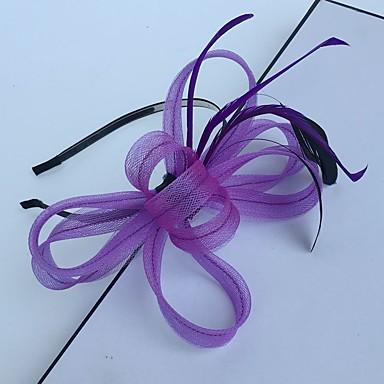 Pena / Rede Headbands / Fascinadores com 1 Casamento / Ocasião Especial / Casual Capacete