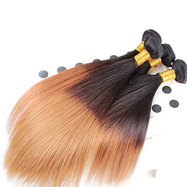 12-26inch 1b / 27 # ombre μήκος μείγμα βραζιλιάνα παρθένα ίσια μαλλιά