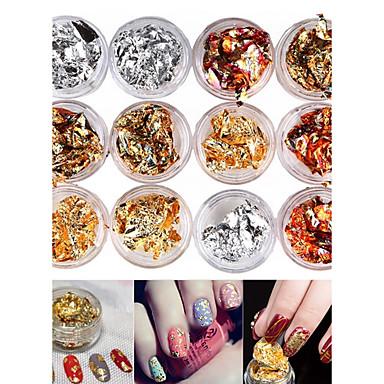 12 pcs Glitters / Fashion Nail Art Design Diário