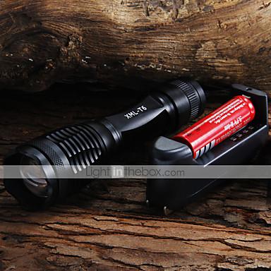 Lanterne LED LED 2000 lm 5 Mod LED Cu Baterie și Încărcător Focalizare Ajustabilă Camping/Cățărare/Speologie Utilizare Zilnică Ciclism