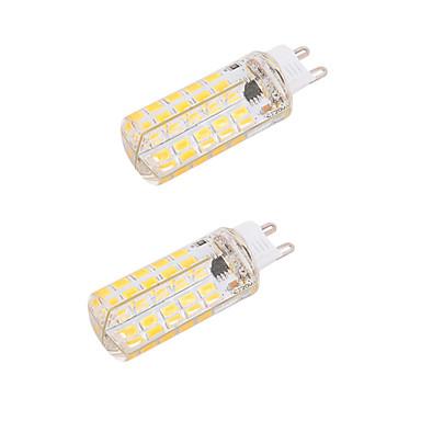 BRELONG® 2pcs 5W 450-500lm G9 E26 / E27 أضواء LED ذرة T 80 الخرز LED SMD 5730 تخفيت ديكور أبيض دافئ أبيض كول 110-130V 220-240V