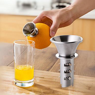 1pç Utensílios de cozinha Aço Inoxidável Gadget de Cozinha Criativa manual Juicer Fruta