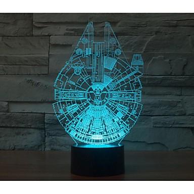 em mil falcon 3 d luz yakeli é leve estéreo conduziu a lâmpada colorida atmosfera gradiente