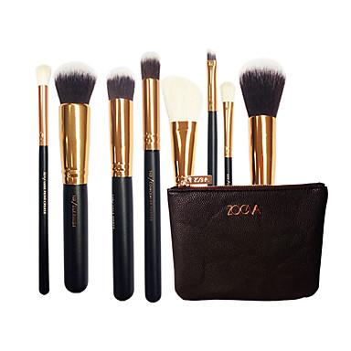 8pçs Pincéis de maquiagem Profissional Pincel para Blush / Pincel para Sombra / Pincel para Lábios Pêlo Sintético Amiga-do-Ambiente /