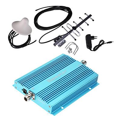 abordables Seguridad-amplificador de señal de teléfono amplificador de señal de 900 mhz amplificador de señal para el hogar gsm amplificador de señal móvil + antena + antena interior inalámbrica
