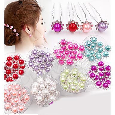 Perle Kopfbedeckung / Haarnadel mit Blumig 1pc Hochzeit / Besondere Anlässe Kopfschmuck