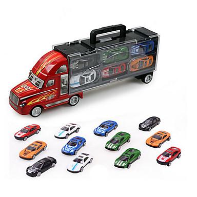 Caminhão Caminhão de carga Caminhões & Veículos de Construção Civil Carros de Brinquedo Modelo de Automóvel 01:32 Simulação Plástico 12 pcs Crianças Para Meninos Para Meninas Brinquedos Dom