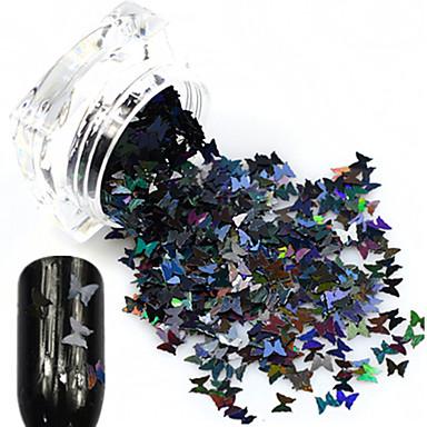 1 bottle Jóias de unha / Glitter & Poudre Glitters / Desenho / Casamento Adorável Diário Nail Art Design / Shimmering