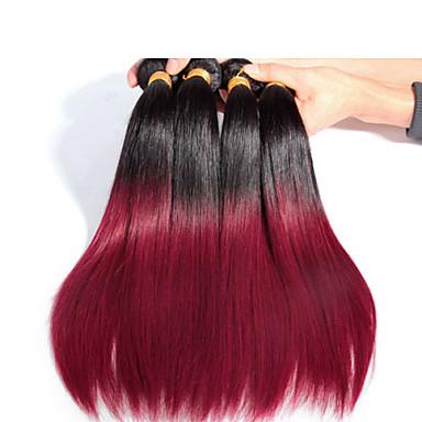 3 PC / χονδρικής ευθεία ombre μαλλιά υφαίνει χρώμα 1b / 530 #, μαλακό και μπλέκεται ελεύθερο βραζιλιάνα τρίχα ombre επέκταση μαλλιά