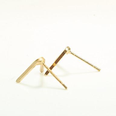 billige Moteøreringer-Dame Øredobber Alfabet Formet Personalisert Mote Euro-Amerikansk øredobber Smykker Gull Til Fest Daglig Avslappet