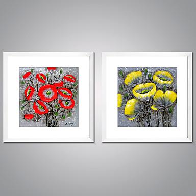 Estampado Laminado Impressão De Canvas - Abstrato / Floral / Botânico Tradicional / Estilo Europeu