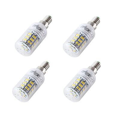 4pçs 4W 300-350lm E14 E27 E26 Lâmpadas Espiga T 48 Contas LED SMD 2835 Branco Frio 12-24V