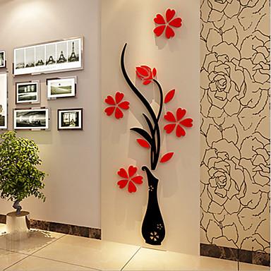 Natal Romance Floral Adesivos de Parede Autocolantes 3D para Parede Autocolantes de Parede Decorativos,Vinil Material Decoração para casa