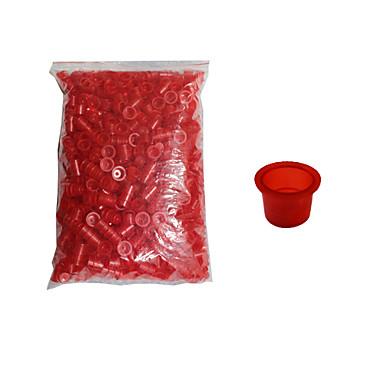 solong tatuointi 1000 kpl tatuointivärien kupit muovipullo keskikokoinen punainen väri tc102-2
