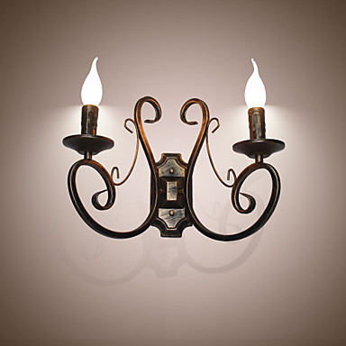 Rústico / Campestre / Retro Luminárias de parede Metal Luz de parede 110-120V / 220-240V 45W