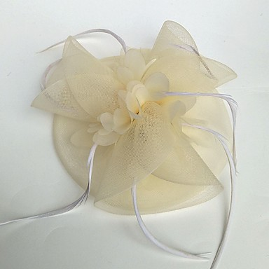 Tyl   Peří   Síť Fascinátory   Klobouky   Doplňky do vlasů s Květiny 1ks  Svatební   Zvláštní příležitosti Přílba d4a99cbb8c