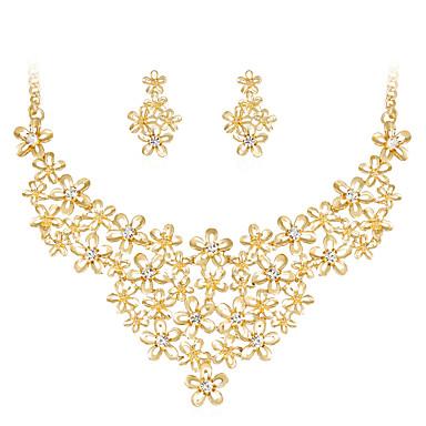 للمرأة مجموعة مجوهرات - حجر الراين, مطلية بالذهب وردة كلاسيكي, موضة تتضمن ذهبي من أجل زفاف حزب مناسبة خاصة