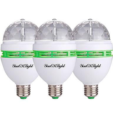 3pcs 3W 400lm LED Spotlight 3 LED Beads High Power LED Decorative RGB 85-265V