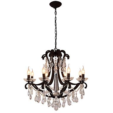 LightMyself™ 8-الضوء نجفات ضوء محيط طلاء ملون معدن كريستال, LED 110-120V / 220-240V لا يشمل لمبات / E12 / E14
