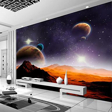 preiswerte Wand- & Ölbilder-Galaxieplanetengewohnheit 3d große wallcovering Wandbildtapeten passte Restaurantschlafzimmerbüro-Naturlandschaft an