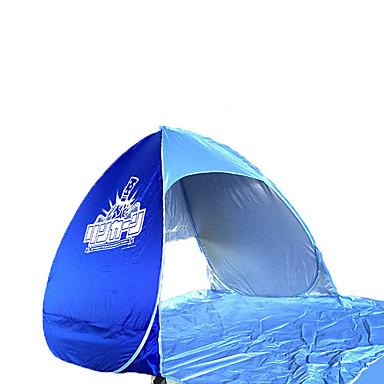 2 사람 비치 텐트 텐트 싱글 캠핑 텐트 원 룸 비치 텐트 휴대용 용 캠핑 여행 스테인레스 CM
