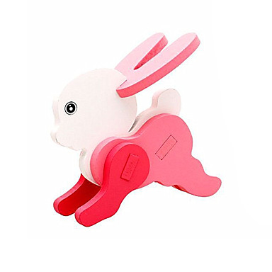 voordelige 3D-puzzels-3D-puzzels Steekpuzzels Houten modellen Rabbit Plezier Hout Klassiek Kinderen Unisex Speeltjes Geschenk