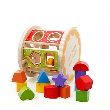 Jogos de Madeira Brinquedo Educativo Forma Cilindrica Legal Crianças Brinquedos Dom