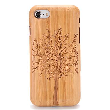 Capinha Para Apple iPhone 7 Plus iPhone 7 Estampada Com Relevo Capa traseira Madeira Árvore Rígida De madeira para iPhone 7 Plus iPhone 7