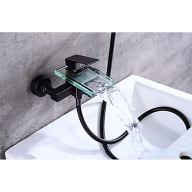 حنفية حوض الاستحمام - معاصر برونز مفروك بزيت في وسط صمام سيراميكي