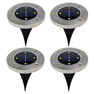 abordables Éclairage Extérieur-0.5 W Lumières de pelouse Blanc Chaud / Blanc Froid Eclairage Extérieur 4 Perles LED