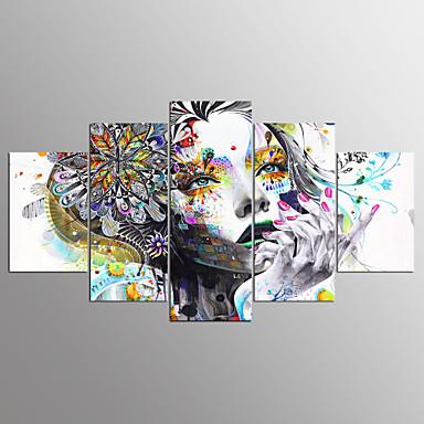 مطبوعات قماش رغم الضغوط بورتريه مجردة الحديث, خمس لوحات كنفا أي شكل الطباعة جدار ديكور تصميم ديكور المنزل