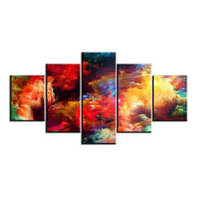 Kunstdrucke Abstrakt Modern,Fünf Panele Horizontal Druck-Kunst Wand Dekoration For Haus Dekoration